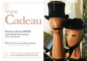 cadeau couple portrait photo personnalisé rétro paris