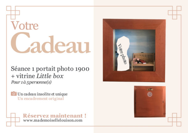 vitrine encadrement Photo 1900 rétro Séances photos portraits en tenues vintage 1900 mode Belle Epoque cadeau