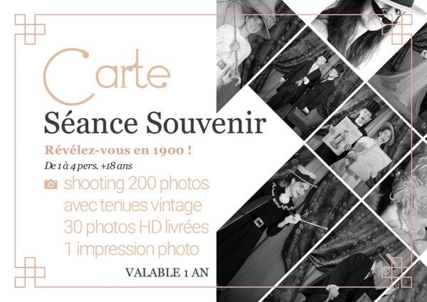 card retro adult photo session 1900