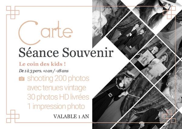 carte séance photo mode 1900 souvenir enfant kid